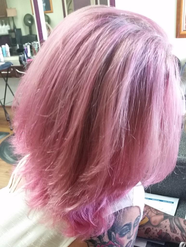 pink lavender hair