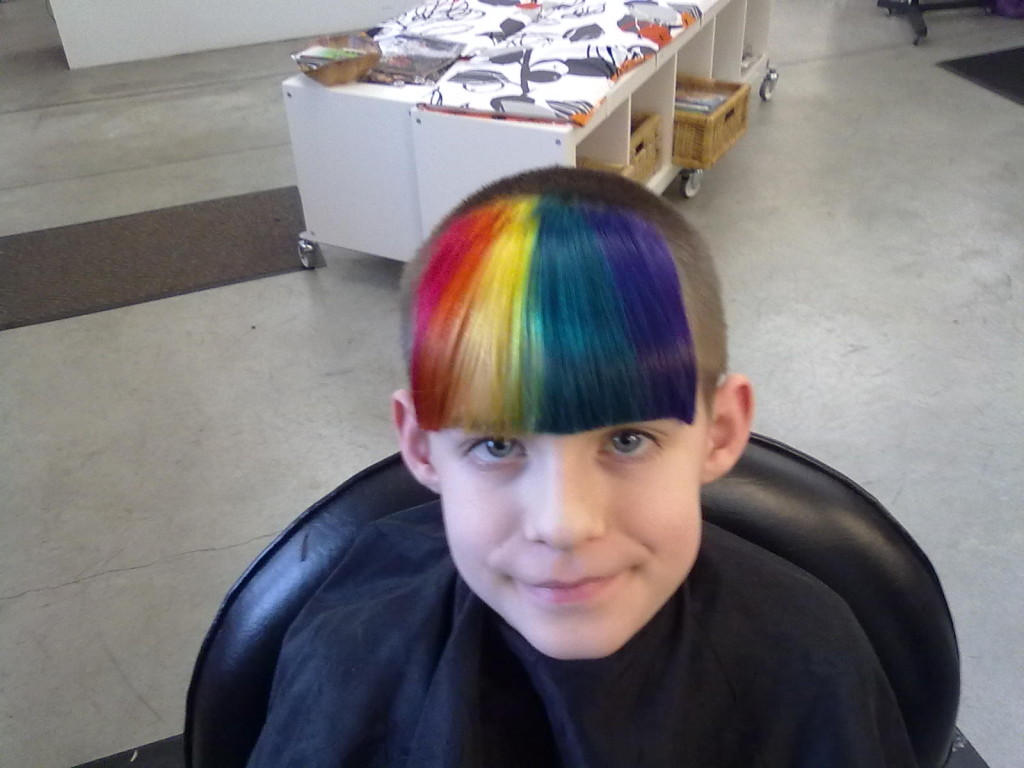 rainbow haircolor